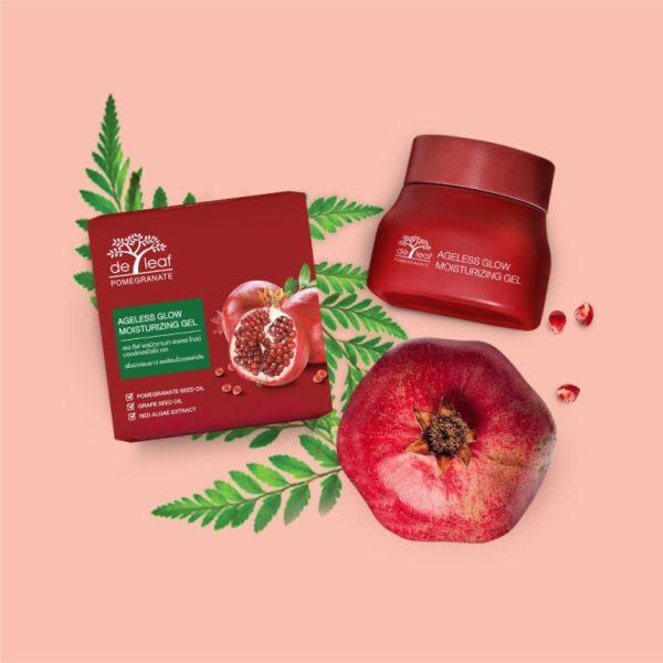 De Leaf Pomegranate Ageless Glow Moisturizing Gel