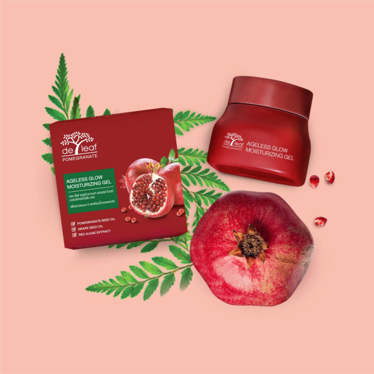 De Leaf Pomegranate Ageless Glow Moisturizing Gel